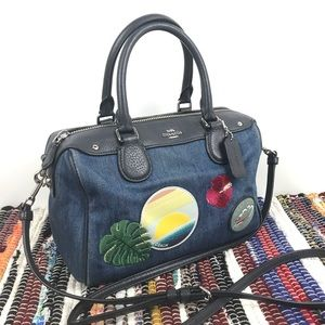 Coach Mini Bennet Satchel blue denim Hawaii